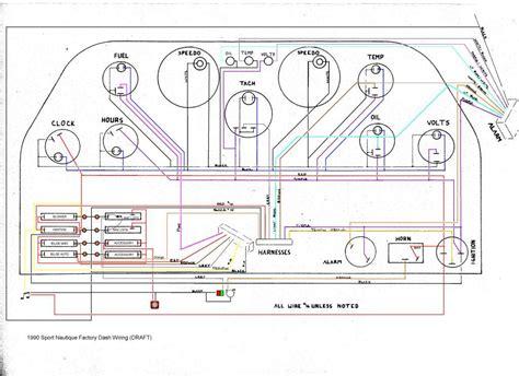 Wire Diagram 1988 Sea Nymph by 1990 Dash Wiring Correctcraftfan Forums Page 1