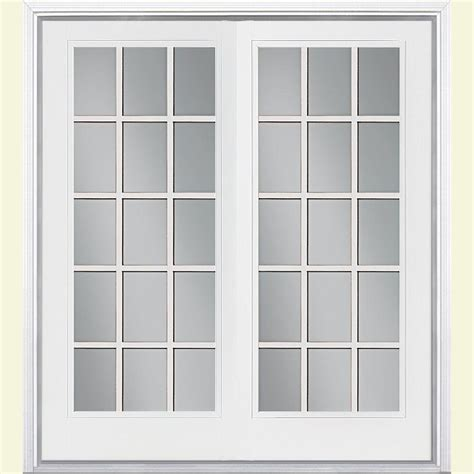 home depot outswing patio doors jeld wen 72 in x 80 in steel white prehung right