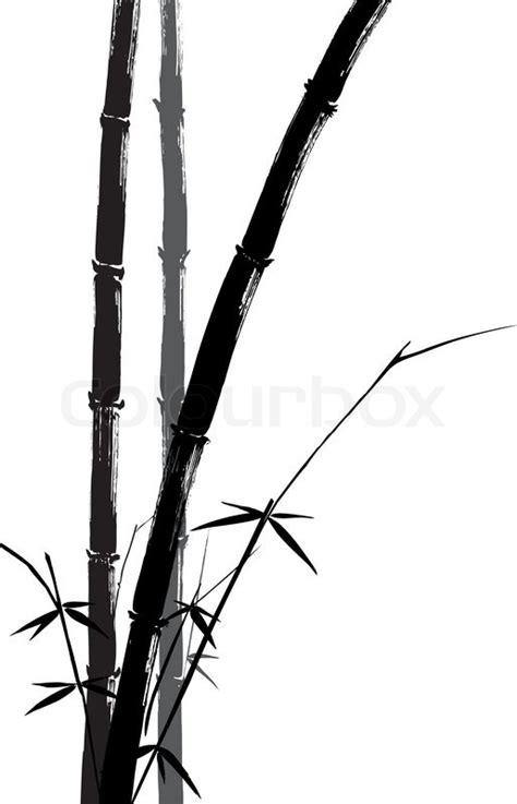 hand drawn illustration   bamboo stock vector