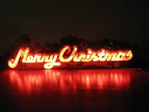 items similar to vintage christmas lighted hanging or window merry christmas decoration sign