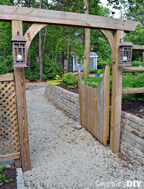 garden arbor with gate diy fence gate 5 ways to build yours bob vila
