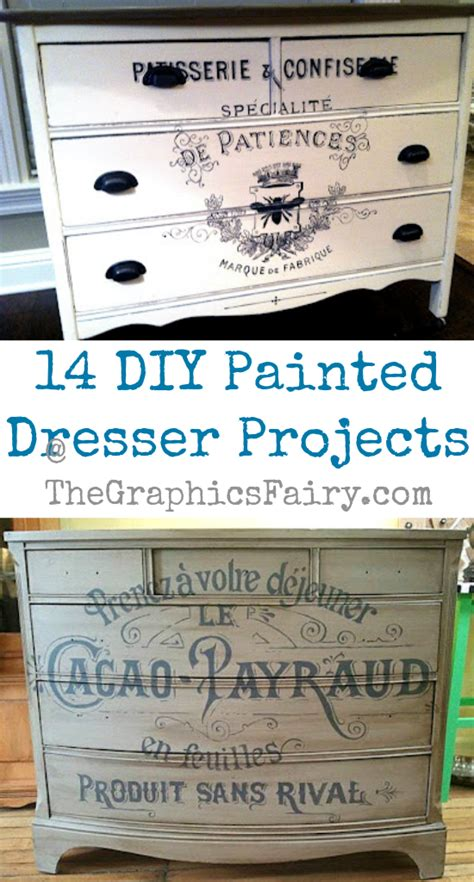 diy painted dresser projects  graphics fairy