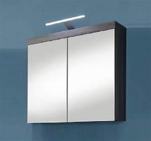 Badezimmer Spiegelschrank Led : spiegelschrank miami badezimmer schrank sardegna rauchsilber grau led spiegellampe kaufen bei ~ Indierocktalk.com Haus und Dekorationen