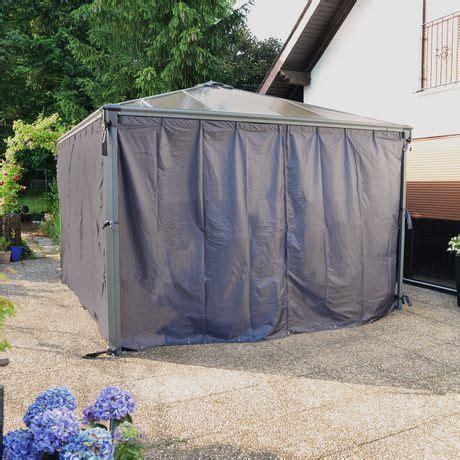 rideaux opaques pour pavillon de jardin palermo de palram