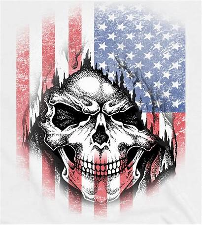 Flag Skull American Cool Graphic Baseball Sleeve