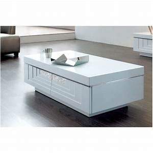 Table Basse Ovale Blanche : table basse blanc laqu les bons plans de micromonde ~ Teatrodelosmanantiales.com Idées de Décoration