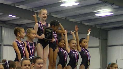 level  gymnastics roanne texas usag district  qualifier youtube