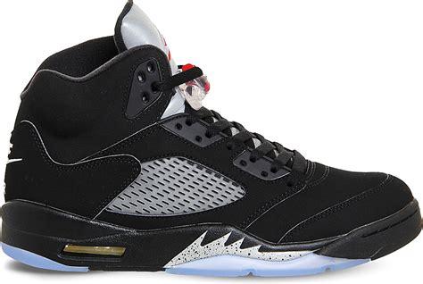 Lyst Nike Air Jordan 5 Retro Leather Trainers In Black