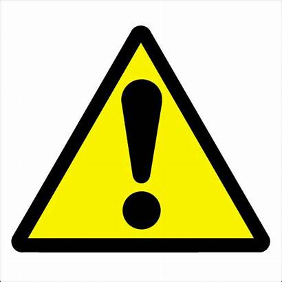 Caution Symbol Safety Hazard Exclamation Warning Sign