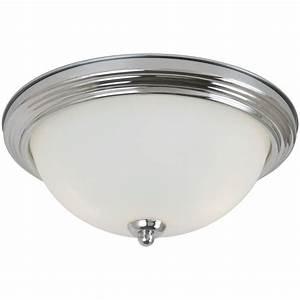 Sea gull lighting light chrome ceiling flushmount with