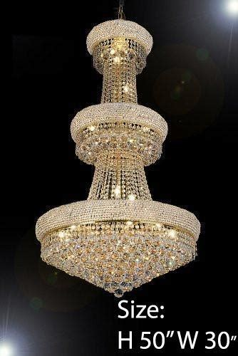 """French Empire Crystal Chandelier H50"""" X W30""""   Perfect For"""