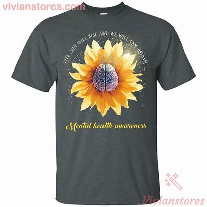 Mental Health Brain Sunflower Awareness