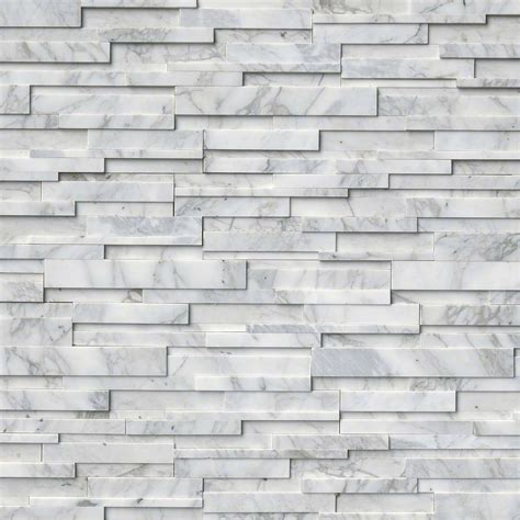Tez Marble - Calacatta Cressa 3D-Natural Stacked Stone