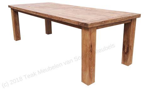 teak tafel teak tafel limburg 300x100 teak meubelen van souren meubels