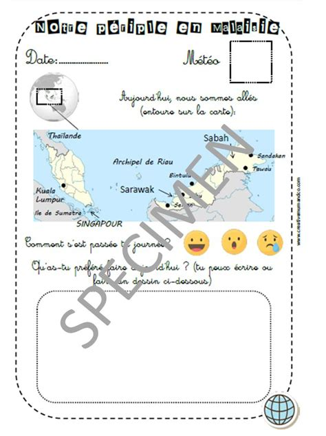 carnet de voyage pour enfant  imprimer