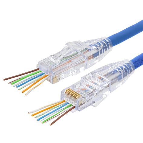 platinum tools 100003c ez rj45 cat5 5e connectors 50 pc clamshell