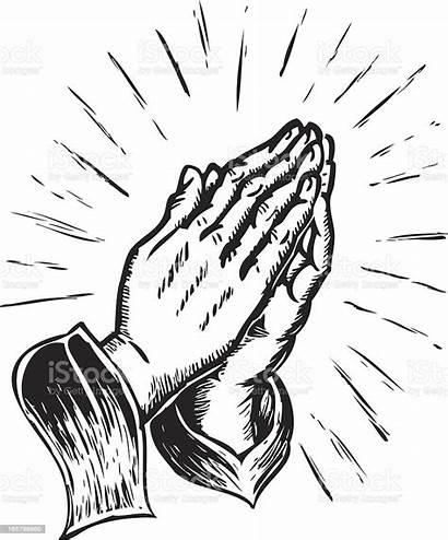 Praying Hands Illustration Vector Illustrations Pray Clipart