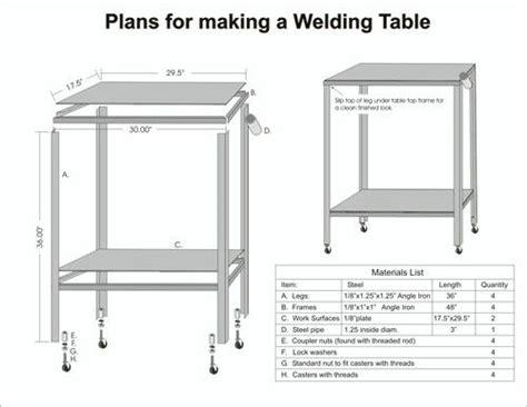 steel welding table plans pinterest the world s catalog of ideas