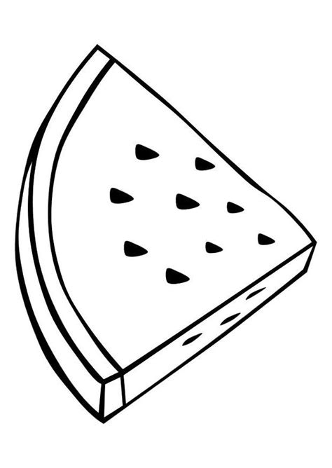 triangle slice watermelon coloring pages  kids great