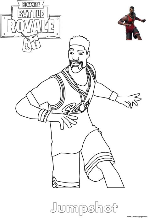 jumpshot fortnite basketball player coloring pages printable