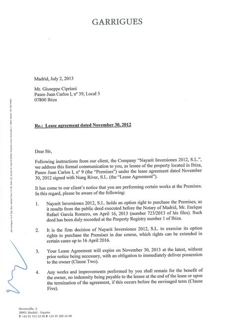 tenant renewal letter non renewal of lease letter nonrenewal of lease