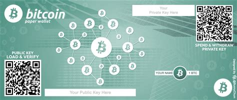 bitcoin paper wallet redesigned  currency note  psd