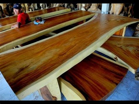 wood slabs table youtube