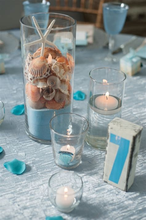 Mermaid Decorations For Home picture of amazing beach wedding centerpieces