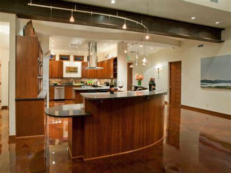 hgtv kitchen lighting modern kitchen with curvilinear island track lighting hgtv 1624