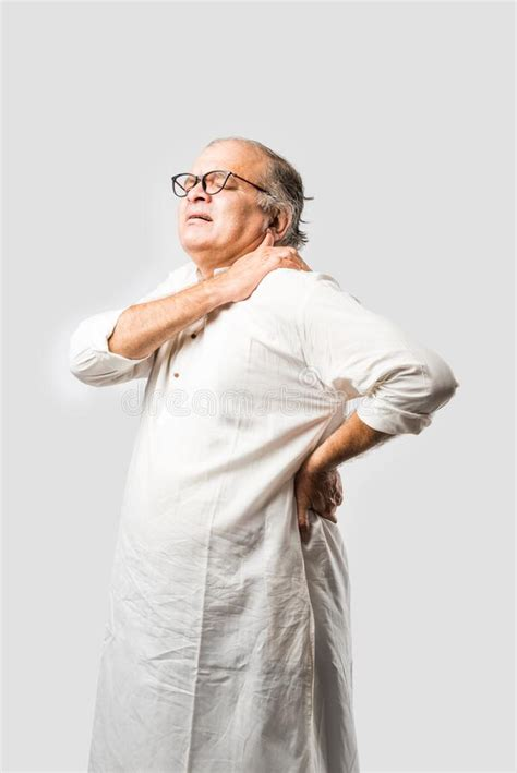 Indian Senior Or Old Man Having Ache Or Body Pain, Sad ...