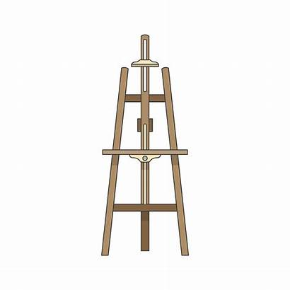 Easel Stand Canvas Vector Illustration Rawpixel Clipart