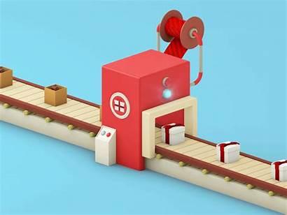 Machine Animation 3d Behance Packing Packaging Cartoon