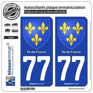 Plaque Immatriculation France : autocollant plaque immatriculation 77 ile de france armoiries ~ Medecine-chirurgie-esthetiques.com Avis de Voitures