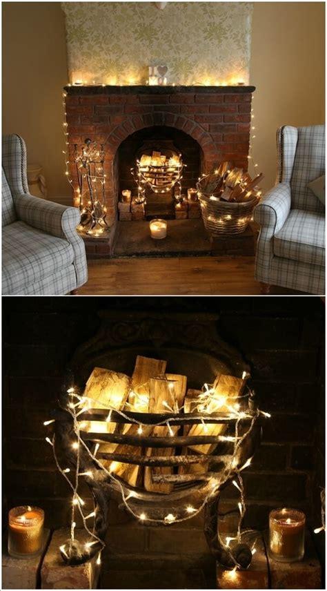 decorate  living room  string lights
