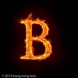 fire B | Alphabets on fire, with flame. check out mtkang ...