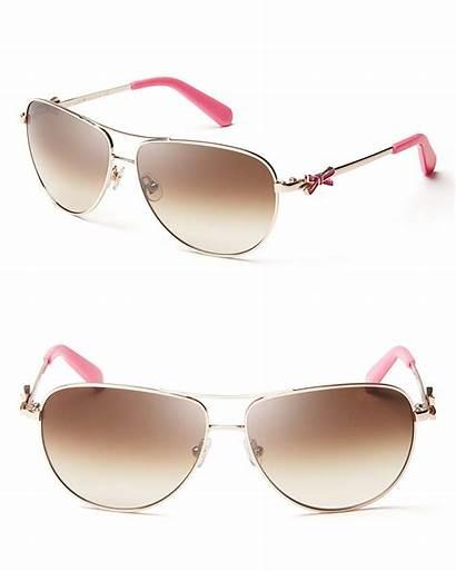 Spade Kate Sunglasses Aviator Bow York Gold