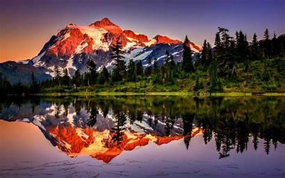 Mountain Mountains Desktop Lake Reflection Wallpapers Nature