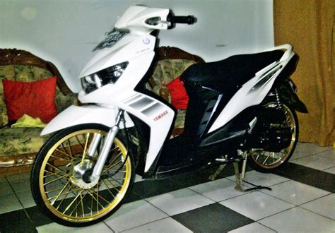 Modifikasi Mio Soul Putih by Modifikasi Yamaha Soul Gt Velg 17 2014