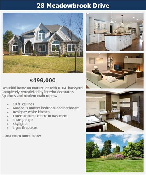 Real Estate Listing Brochure Template by Real Estate Brochures Templates Free Csoforum Info