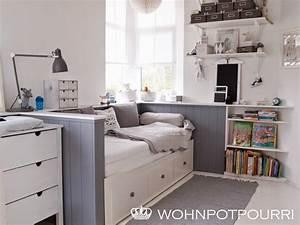 Ikea Bett Kinderzimmer : ikea hemnes tagesbett umbau via wohnpotpourri kinderzimmer pinterest ikea hemnes ~ Frokenaadalensverden.com Haus und Dekorationen