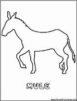 Mule Coloring Pages Outline Donkey Cartoon Colouring Pack Fun Horse Getcoloringpages Animal Carcabin Wild sketch template