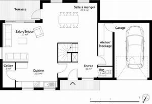 plan maison 160 m2 a etage ooreka With plan maison demi etage 2 plan maison avec demi sous sol ooreka