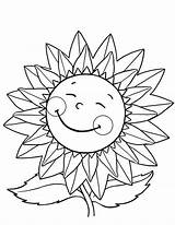 Sunflower Coloring Pages Happy Sunflowers Flower Fall Flowers Drawing Van Gogh Sunny Getdrawings Simple Explore Draw Daisy Colornimbus sketch template