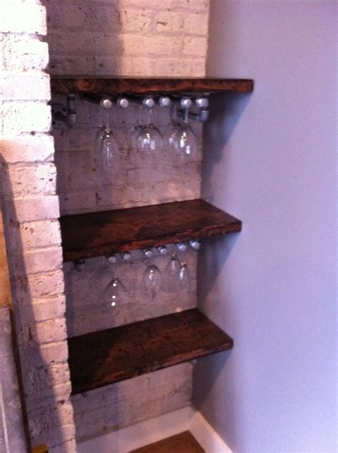 bar shelves  place  home pinterest bar