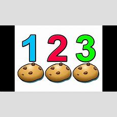 """""""counting Cookies""""  Learn To Count Numbers 1234 Preschool Children Youtube"""