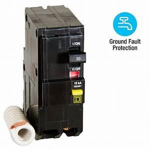 Square D Qo 50 Amp 2-pole Gfci Breaker-qo250gficp