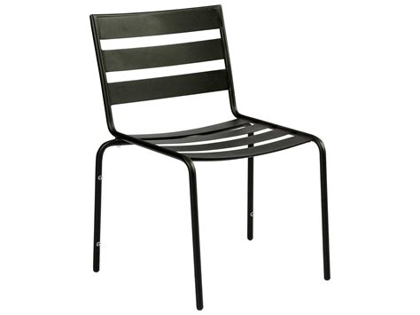 woodard cafe series wrought iron stackable dining chair in