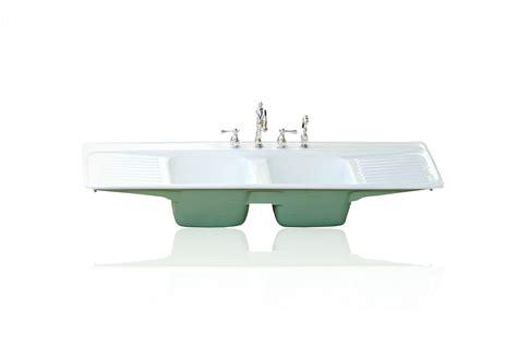 cast iron kitchen sink with drainboard farmhouse drainboard sinks retro renovation 9381