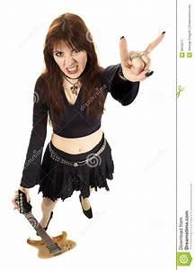 Heavy Metal Girl Stock Image - Image: 9016271