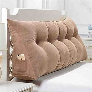 headboard pillow home design With bed back cushion design
